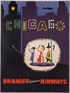 Chicago - vintage travel poster