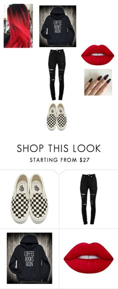 """EMO Fall Outfit"" by mychristapie on Polyvore featuring Vans, Yves Saint Laurent and Lime Crime"