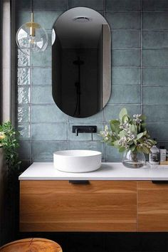 One Room Challenge Week 1 :: Half Bathroom Plans - Salle de Bains 02 Diy Bathroom, Bathroom Plans, Bathroom Trends, Bathroom Ideas, Master Bathrooms, Modern Bathrooms, Bathroom Organization, Green Bathrooms, Bathroom Designs