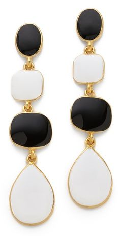 Kenneth Jay Lane Enamel Drop Earrings
