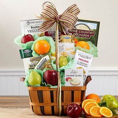 Wine Country Fruit and Favorites Gift Basket Summer Gift Baskets, Wine Country Gift Baskets, Basket Gift, Summer Gifts, Smoked Gouda Cheese, Ripe Fruit, Fruit Fruit, Fruit Gifts, Get Well Soon Gifts