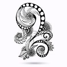 Ilustraci n Henna Paisley Mehndi Doodles Abstract Floral Vector Design Element Versi n blanco y negr Foto de archivo