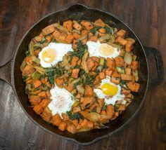 Paleo Cast Iron Sweet Potato Hash With Eggs Recipe   Primal Paleo