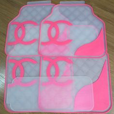 Pvc Pink Car Floor Mat Girly Car Car Floor Mats Pink