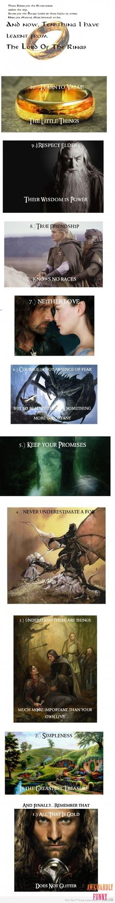 10 things I've learned from The Lord of the Rings.