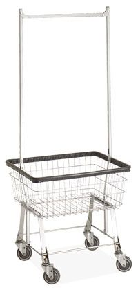 $174 laundry cart with rack