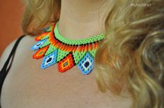 Colliers – Choker boho style from Colombia – a unique product by luloplanet on DaWanda