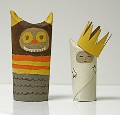 "Wild Things Toilet Paper Tubes  ... we made our version of these at the Summer Library Program after reading ""Where the Wild Things Are."" The kids loved it!"