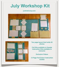 Justine's Close to My Heart Scrapbooking: July Virtual Workshop of the Month…