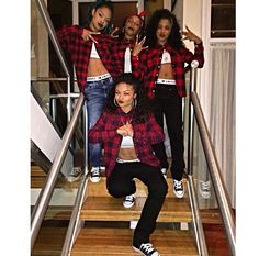 This is squaad shxt i need a squad like this but they rocking the outfits pin it or like this pin if you like the style in this squad Bff Goals, Best Friend Goals, Squad Goals, Dope Fashion, Urban Fashion, Chola Costume, Halloween Outfits, Halloween Costumes, Ropa Hip Hop