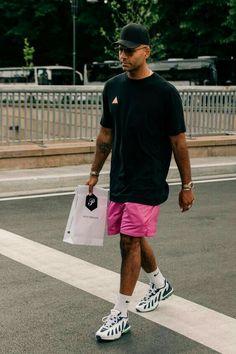 Casual Men's T Shirt For Summer Street Style 12 Moda Streetwear, Style Streetwear, Streetwear Shorts, Streetwear Summer, Mens Streetwear Fashion, Street Style Summer, Casual Street Style, Street Style Outfits Men, Man Style Summer