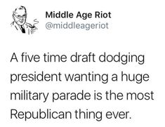 There has to be a stronger word to use other than HYPOCRITE. Welcome to Russia/North Korea even down to the military showoff. What a fucking dictator he wants to be!