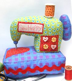 Cute sewing machine pattern!