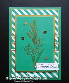 Angela's PaperArts:Gift of Love hostess stamp set,  Emerald Envy