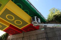 Megx Creates LEGO Bridge in Germany | Hypebeast