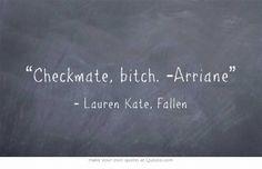 Hahah I love that part ! Fallen Saga, Fallen Novel, Fallen Series, Fallen Book, Lauren Kate, Good Books, My Books, Amazing Books, Book Qoutes