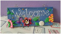# Clay Welcome Board
