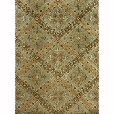 Handtufted Ferring Sage Wool Rug (7'10 x 11')