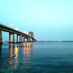 Robert Moses bridge. Long Island, NY