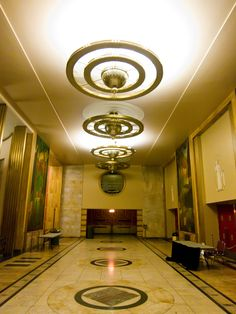 Art Deco Interior, Municipal Auditorium, Kansas City, Missouri. @ Art Deco Interiors / Tumblr