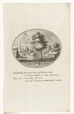Anna Catharina Brouwer   Gezicht op het dorp Maasdam, Anna Catharina Brouwer, 1791 - 1793  