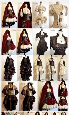 Pin on Character outfits Pin on Character outfits Steampunk Clothing, Steampunk Fashion, Steampunk Cosplay, Pretty Dresses, Beautiful Dresses, Mode Outfits, Fashion Outfits, Fashion Clothes, Trendy Fashion