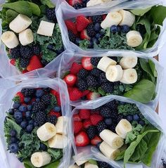 """This NEW weeks: {Green Smoothie Prep Packets🌱} And how to """"find """" more time each day😄 7 Days of Pre-made, drop into the blender-Green Morning Smoothies!  What I did for 1 week PREP today: (You can use ANY favorite combo of fruits or make these for any # servings/days -adjust!) 2 servings per day for 1 week: ■7 or more gallon Ziploc Freezer bags, large tupperware containers, OR large glass canning jars (if you have freezer space...can reuse ziplocs the next week, to prevent waste) Add to…"""