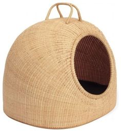 Woven Pet Basket - contemporary - pet accessories - Design Within Reach    We love the natural fibres used to make this cozy bed