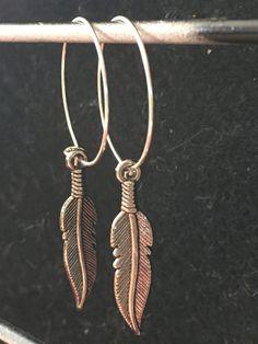 Bead Earringdrop earringdangle earringhoop by DawnsBeadsDesigns