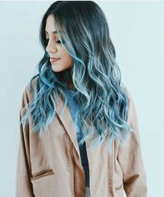 Blue Long Hair | #colorfulhair #mermaidhair #bluehues #purplehues #colorenvy #voluminoushair #colorfordays #innermermaid #mermaidvibes #hairgoals #hairootd #hairenvy #hairheaven #hairfirst #haireverything #perfecthair #hairwants #hairneeds #hairessentials #everydayhair