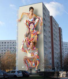 "Artist : JBAK ""New mural in Berlin"" 04/2014 street art y luego dicen que esto es vandalismo"