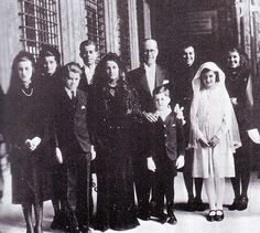 The Kennedy family dressed for the coronation of the Pope