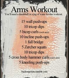 Arm Workout | Posted by CustomWeightLossProgram.com
