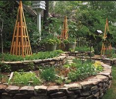 Really like the idea of using stone/ natural stone for raised beds and never thought of it...