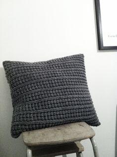 Knitted cushion colour texture love