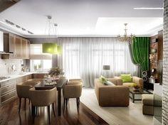 Кухня-гостинная (От Проектное бюро O.Diordi)