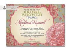 Bridal Shower Invitation Vintage
