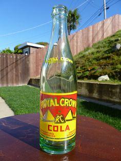 See more soda pop bottles in my photostream. Old Glass Bottles, Pop Bottles, Antique Bottles, Drink Bottles, Pepsi Logo, Vintage Jars, Soda Fountain, Dr Pepper, Crown Royal