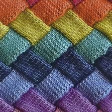 Entrelac knitting...looks hard but it is really easy!