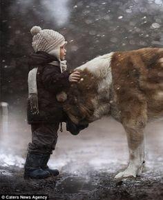 Mãe capta momentos de extrema beleza de seus filhos interagindo com animais