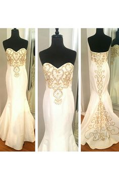 White Prom Dress,White prom Dresses,White evening Gowns,Beautiful mermaid