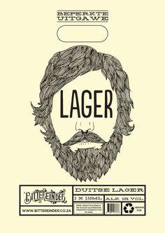 Bittereinder (Craft Beer Packaging Design) by Stephan Pretorius, via Behance