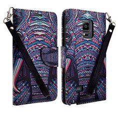 Amazon.com: Samsung Note Edge Case, Magnetic Flip Folio Pouch (SUNFLOWER): Cell Phones & Accessories