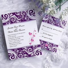 21 best purple wedding invitations images invitations purple