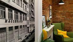 Marica Coffee House - Veszprém, Hungary / 2016 #interiordesign #cafe #interior #lounge #contract #furniture #b2b #retail #yellowlounge #greenchairs Bistro Interior, Cafe Interior, Interior Design, Contract Furniture, Hungary, Coffee Shop, Retail, Lounge, Interiors