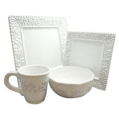 Bianca Leaf Square 16 Piece Dinnerware Set  sc 1 st  Pinterest & Sango Jubilee 16-pc Dinnerware Set | Overstock.com Shopping - The ...
