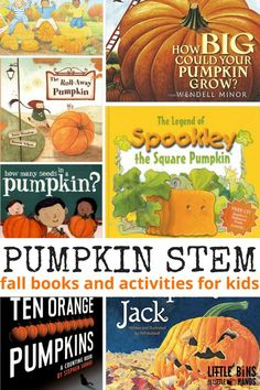 Pumpkin Science and STEM book activities for kids fall STEM ideas