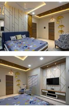 The Charming Traditional House With A Transcendental Message Bedroom Pop Design, Bedroom Furniture Design, Home Room Design, Bed Design, Home Interior Design, Interior Designing, Bedroom Designs, Living Room Tv Unit Designs, Ceiling Design Living Room