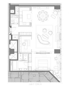 【Yabu】北京梵·悦108超级豪宅 方案+效果图+施工图+实景 539M 6259419 House Layout Plans, Modern House Plans, House Layouts, House Floor Plans, Apartment Plans, Single Apartment, Plano Hotel, Architectural Floor Plans, Hotel Room Design