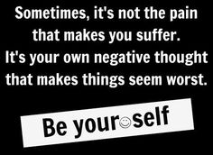 Negative thoughts quote via www.Facebook.com/BeYourself09